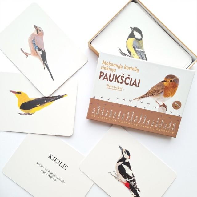 Mokomosios kortelės - Paukščiai