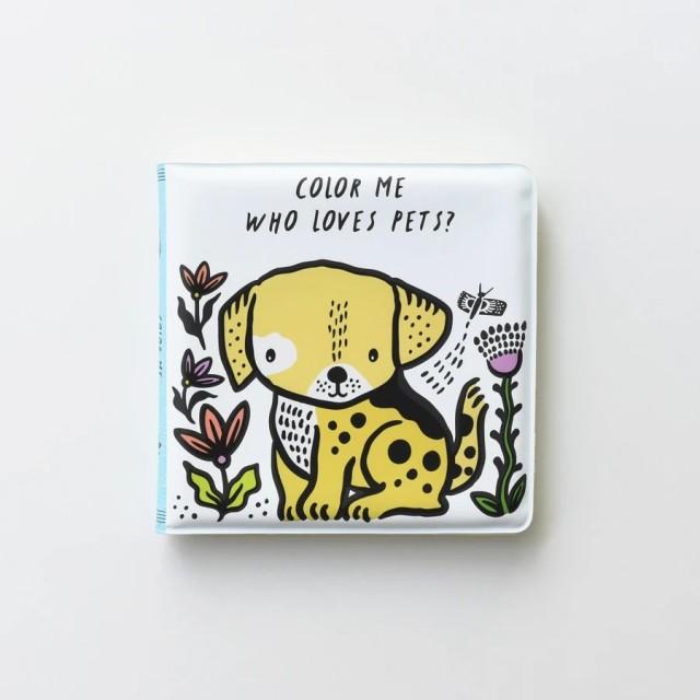 WHO LOVES PETS? (Maudynių/spalvinimo vandeniu knygelė)